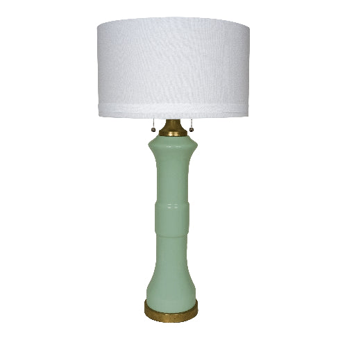 Teal Green Glass Lamp