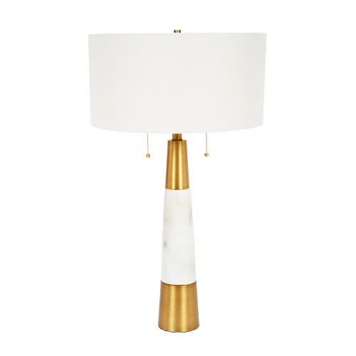 Nadine Marble and Brass Table Lamp