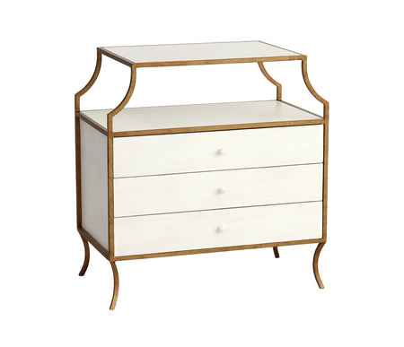 Milla Side Table W/ 3 Drawers