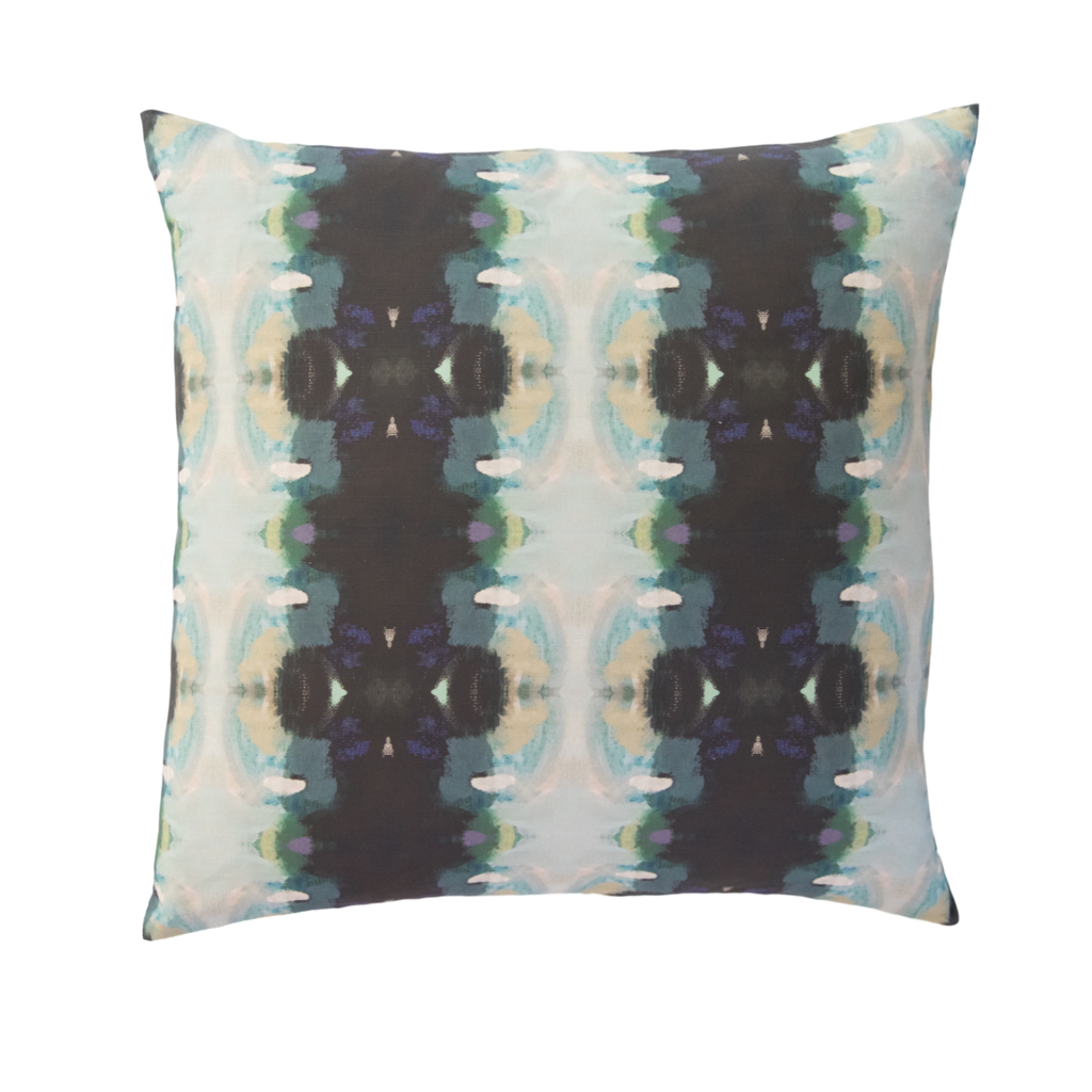 Orchid Blossom Navy Pillow