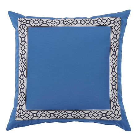 Outdoor Typhoon Pillow with Navy Print Tape