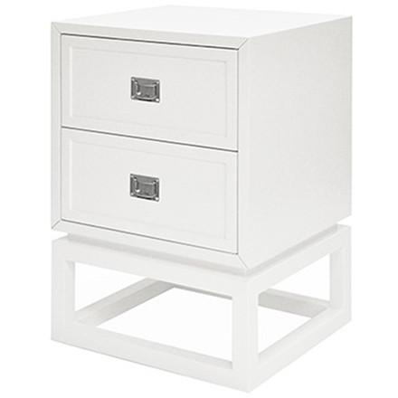 Oliver White Lacquer Side Table