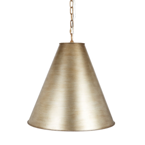 Bennington Metal Pendant in Brushed Gold