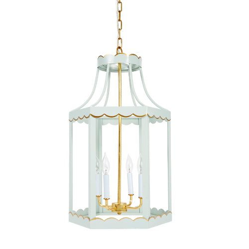 Alys with Blue and Gold Scalloped Lantern