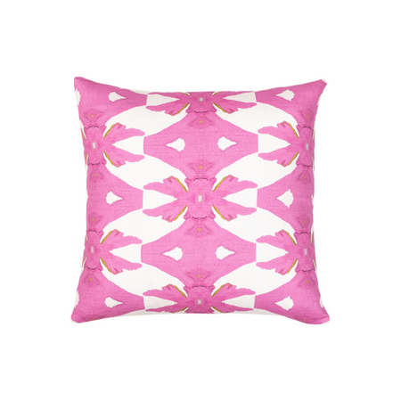 Palm Pink Linen Cotton Pillow