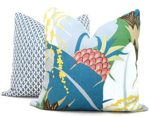 Peacock Pineapple Pillow