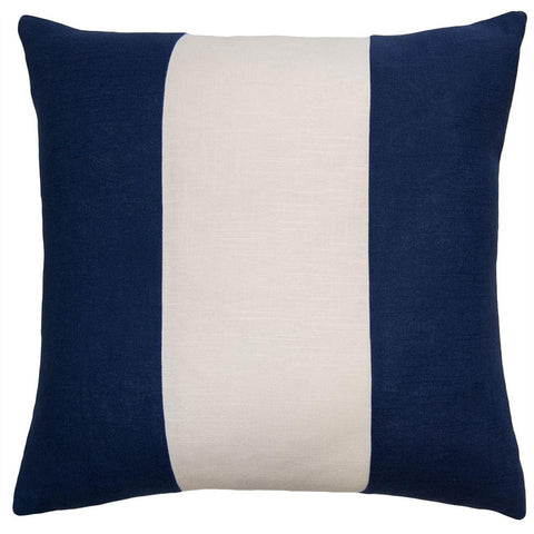 Savvy Hue Navy Pillow in Ivory