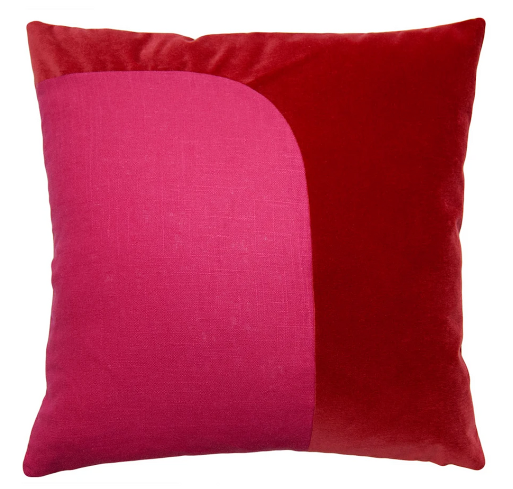 Felix Red Fuchsia Pillow