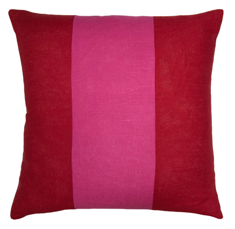 Savvy Hue Red and Fuchsia Pillow