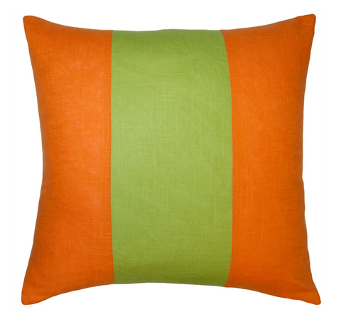 Savvy Hue Tangerine with Lime Pillow