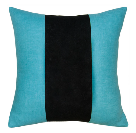 Savvy Hue Turquoise with Black Pillow