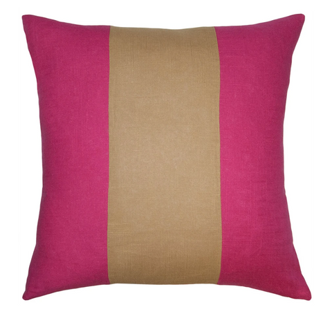 Savvy Hue Fuchsia with Gold Pillow