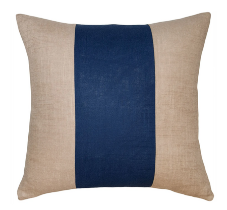 Savvy Hue Driftwood with Navy Pillow