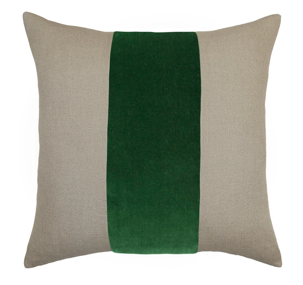 Ming Linen Emerald Pillow