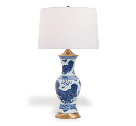 Chow Blue Lamp