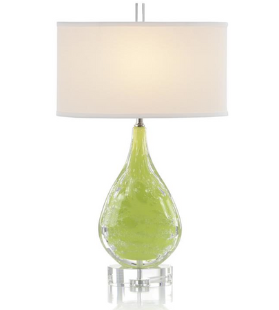 Lime Art Glass Table Lamp