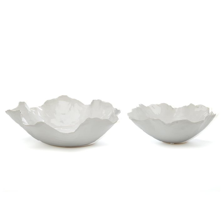 White Free Form Bowls Medium