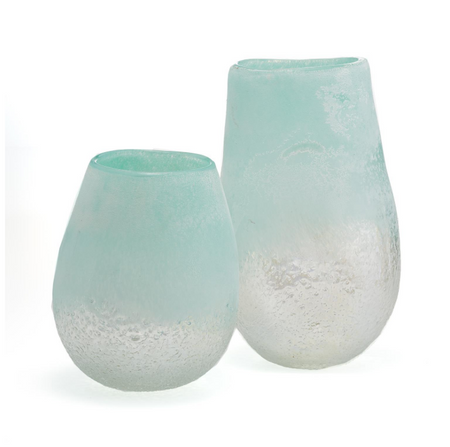 Waterscape Frosted Seafoam Short Vase