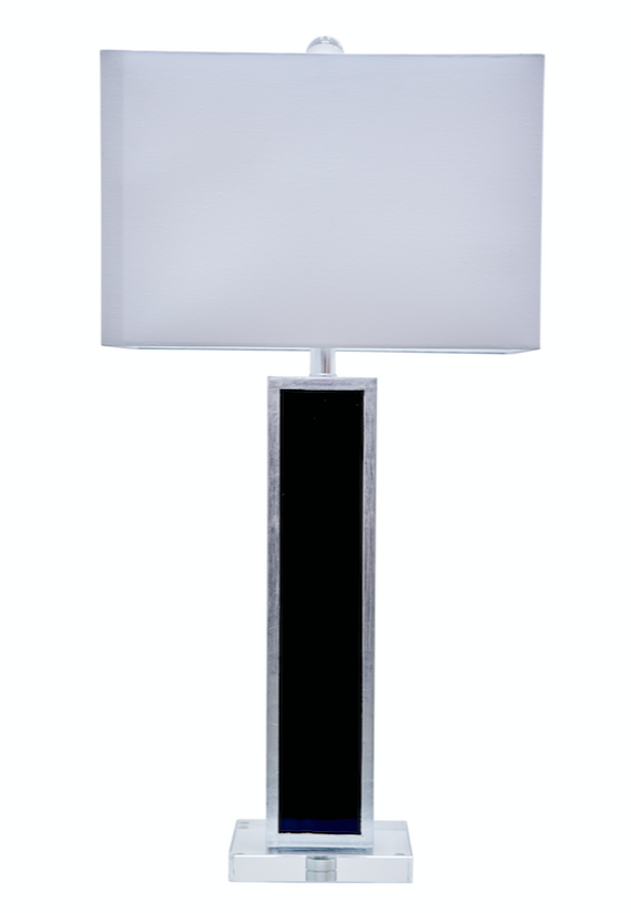 Blair Table Lamp, Indigo/Silver