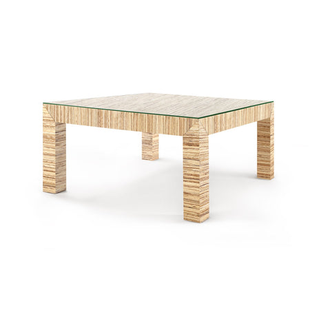Valentina Grasscloth Coffee Table in Natural