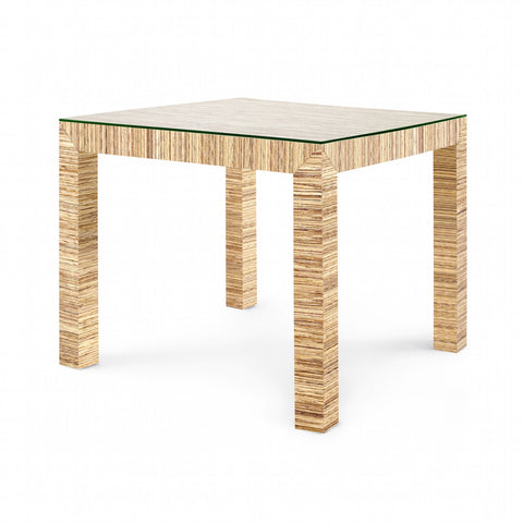 Valentina Grasscloth Game Table in Natural