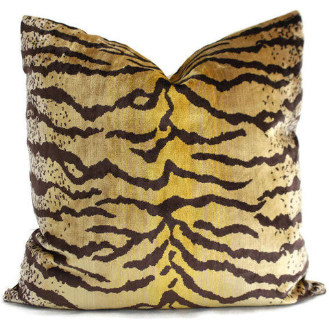 Velvet Tiger Lumbar Pillow