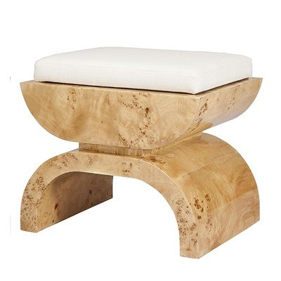 Biggs Burl Wood Stool