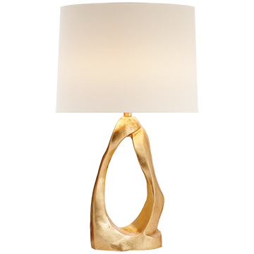 Cannes Table Lamp in Gild