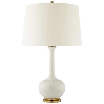 Coy Medium Table Lamp with Natural Percale Shade