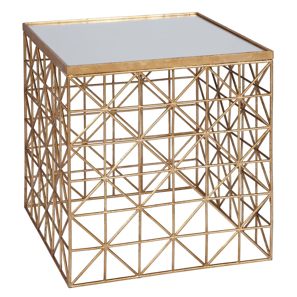Matthew Gold Side Table