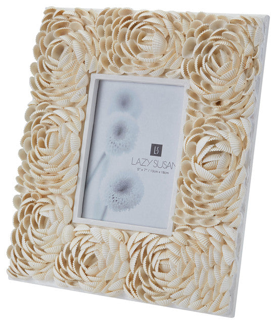 Natural Shell Flower Pattern Frame