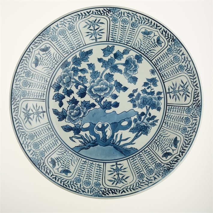 Blue and White Chinese Garden Decorative plate