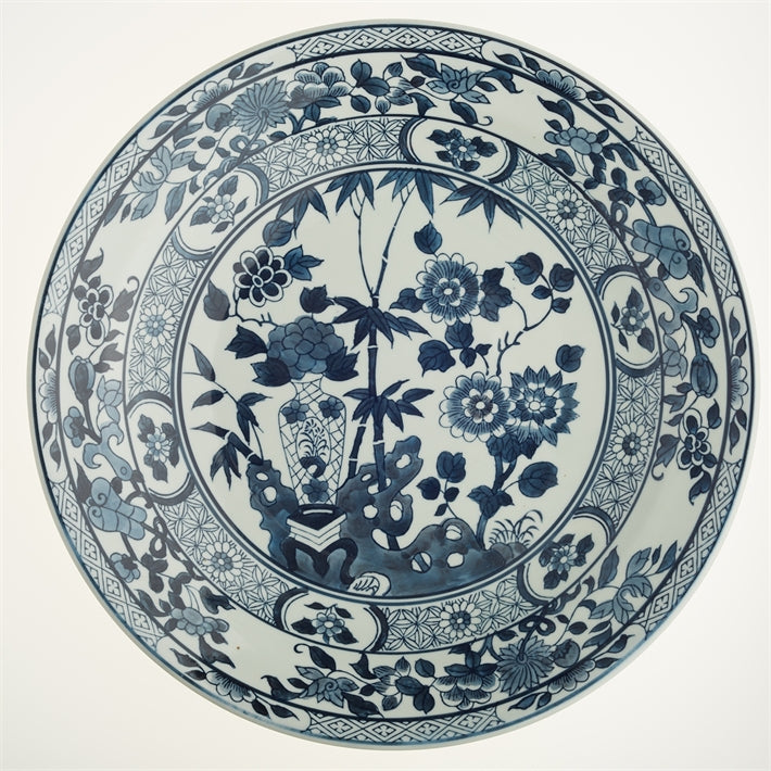 Blue And White Lotus Flower Decorative Plate Me Home