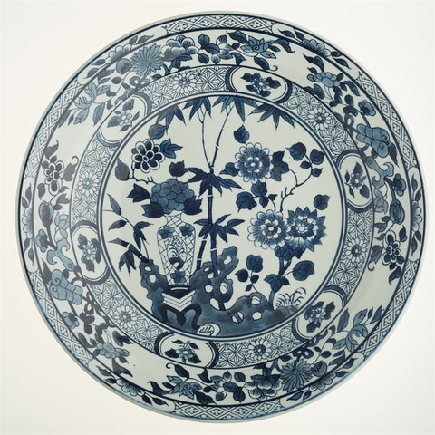 Blue and White Lotus flower decorative plate