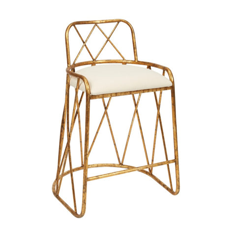 Patsy Gold Counter Stool