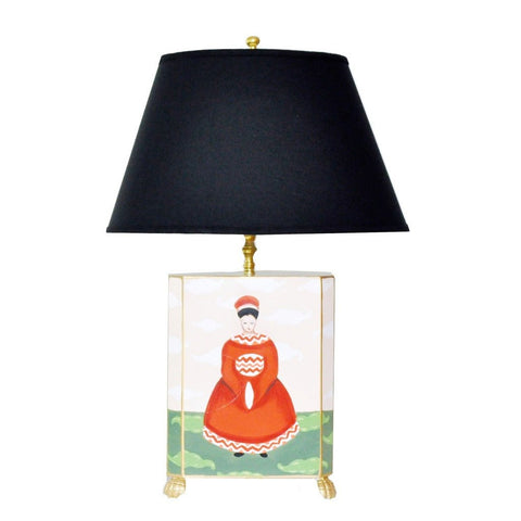 Empress Lamp with Black Shade
