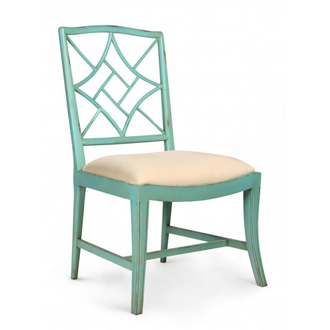 Evelyn Side Chair in Seafoam Green