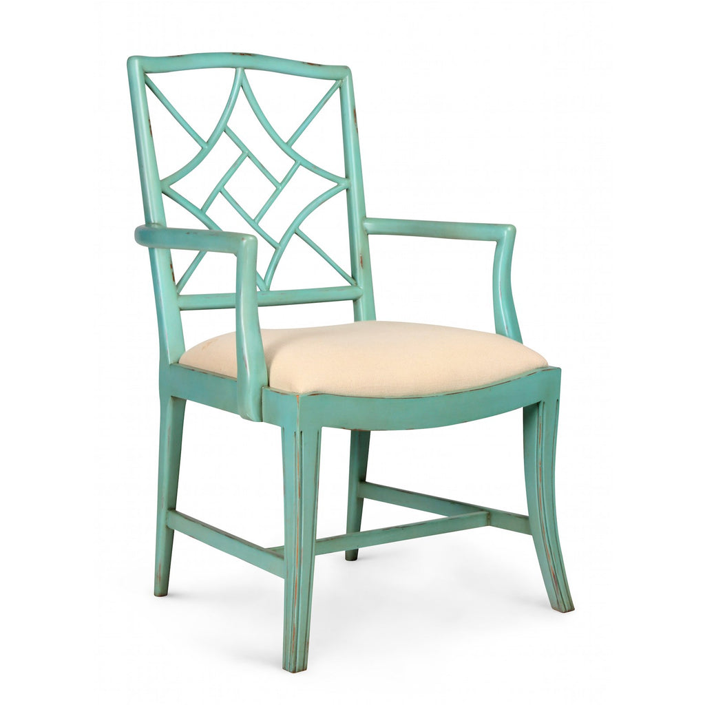 Evelyn Armchair Chair in Seafoam Green