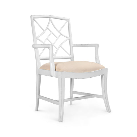 Evelyn Armchair Chair in White
