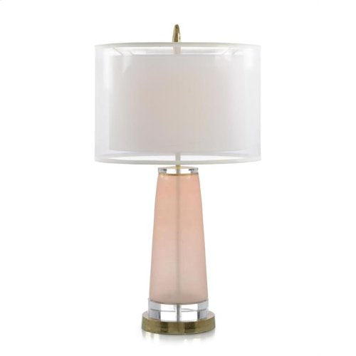 Soft Pink Glass Table Lamp