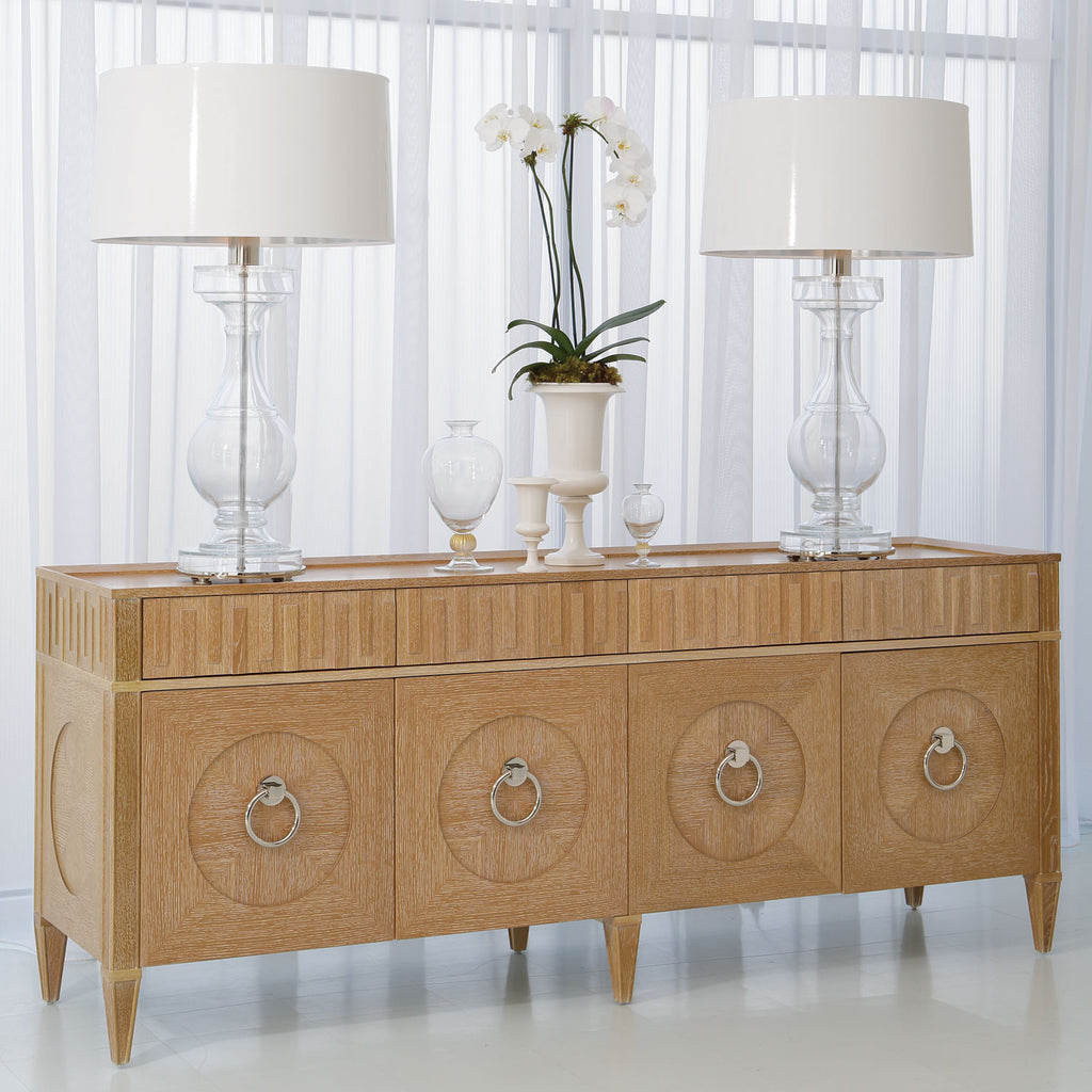 French Key Cabinet in Light Limed Finish