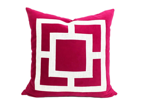 Linen Pillow with Applique
