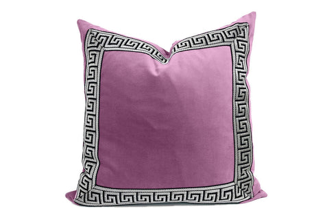 Orchid Velvet Pillow with Tape