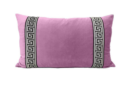 Pink Lumbar with Greek Key Tape