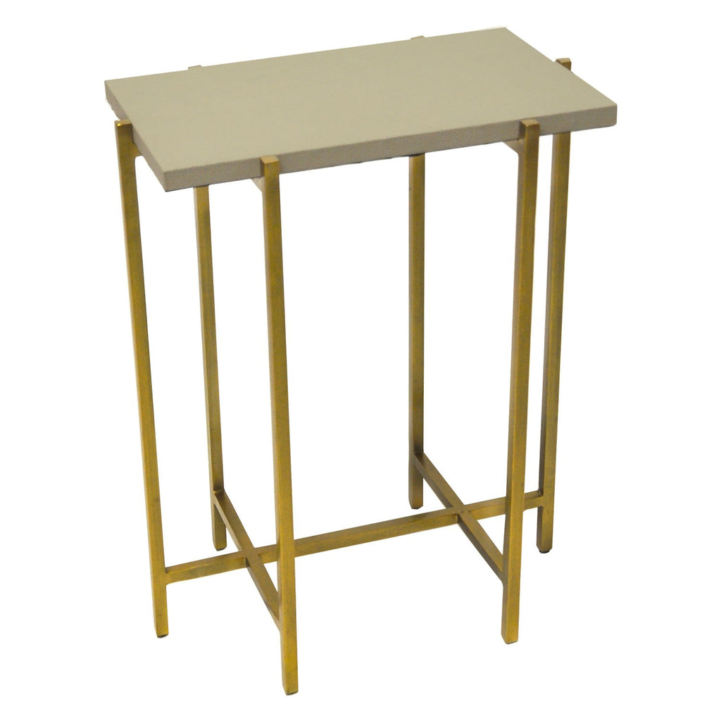 Avni Side Table with grey top
