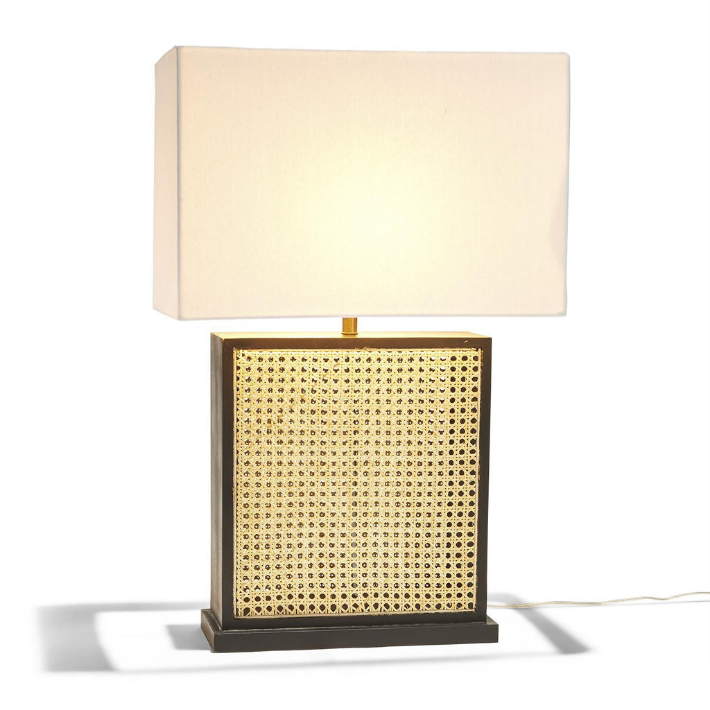 Cane Table Lamp