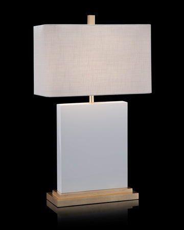 Glossy White Table Lamp