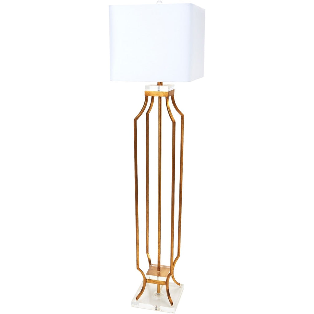Elise Gold Metal Floor Lamp