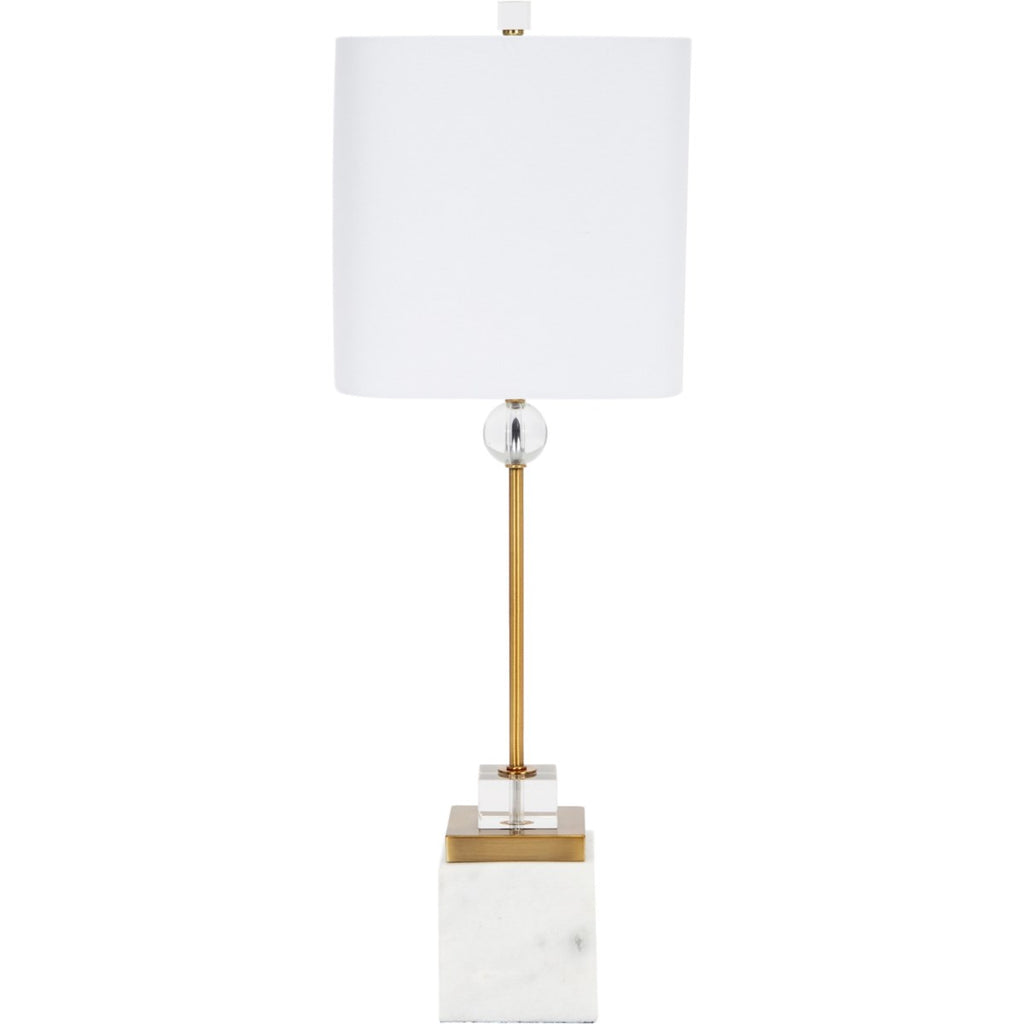 Kirk White Marble Buffet Lamp