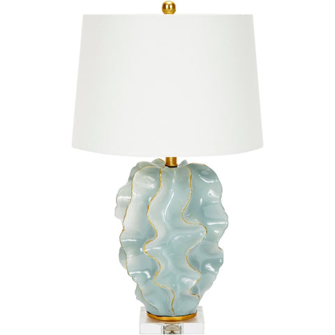 Hannah Blue Ceramic Wave Lamp